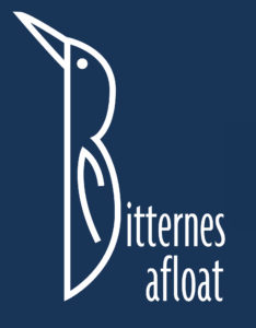Bitternes Afloat Logo, a Bittern shaped to reflect capital letter 'B' of Bitternes Afloat
